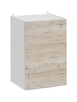 Meuble haut de cuisine- 1 porte, L 40 cm - décor noyer blanchi