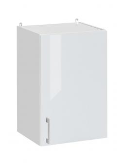 Meuble haut de cuisine- 1 porte, L 40 cm - eco blanc brillant