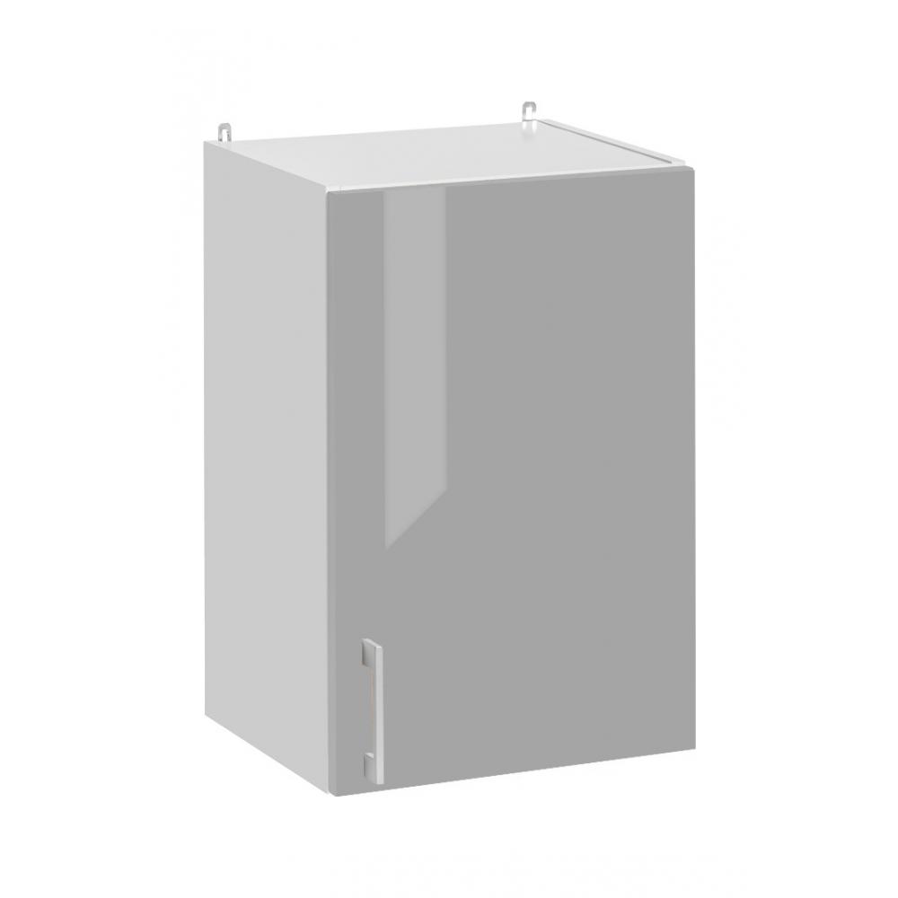 Meuble haut de cuisine- 1 porte, L 40 cm - gris brillant