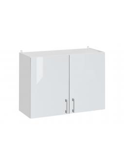 Meuble haut de cuisine - 2 portes, L 60 cm - eco blanc brillant