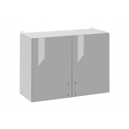 Meuble haut de cuisine 80 cm, 2 portes - ECO Gris   Cuisineandcie