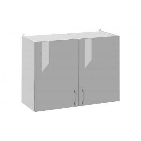 Meuble haut de cuisine 80 cm, 2 portes - ECO Gris | Cuisineandcie