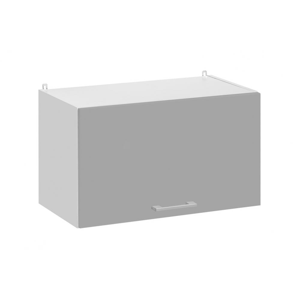 Meuble haut de cuisine - 1 porte relevable L 60 cm - gris brillant