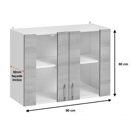 Dimension du meuble haut de la cuisine ECO (WW8/60).