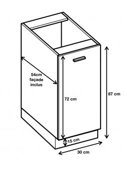 Dimension du meuble D3.