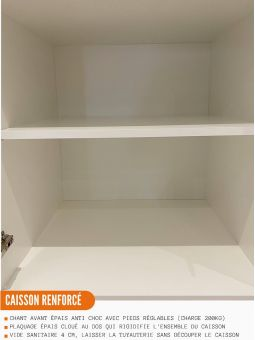 Meuble bas de cuisine - 1 porte + 1 tiroir L 40 cm