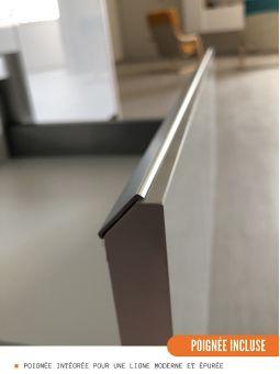 Meuble bas de cuisine - 2 portes, L 80 cm