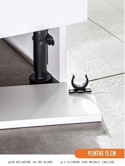 Meuble bas de cuisine - 1 porte, L 60 cm
