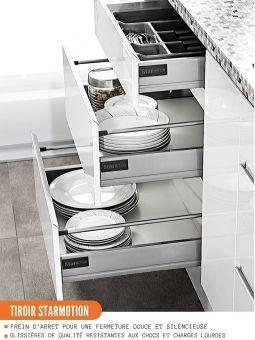 Meuble bas de cuisine - casserolier, L 60 cm