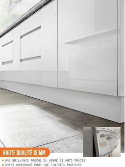 Meuble bas de cuisine - casserolier, L 90 cm