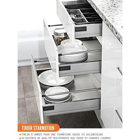 Meuble bas de cuisine - casserolier, L 80 cm