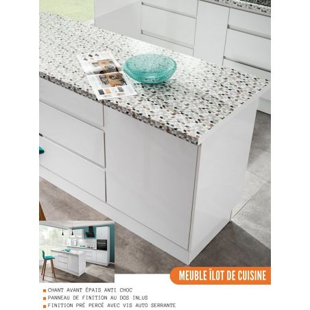 Meuble d'angle pour îlot de cuisine - 1 porte, L 105 cm