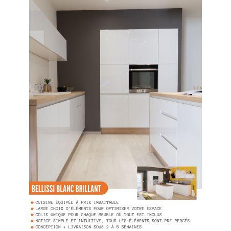 Meuble haut de cuisine - 1 porte, L 45 cm