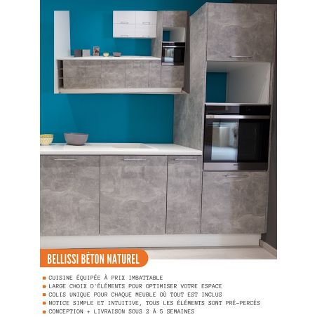 Panneau de finition pour colonne de cuisine - H203.7/L58 cm