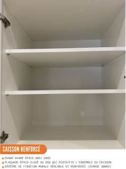 Meuble haut de cuisine - 1 porte, L 30 cm