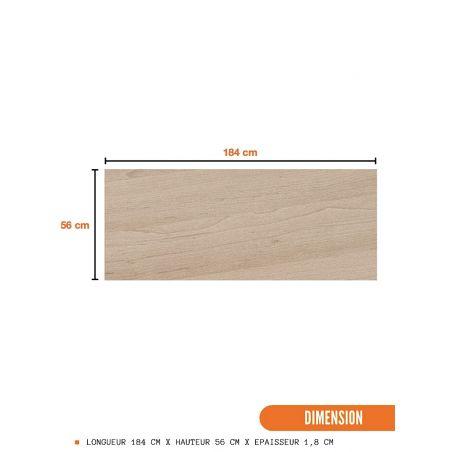 Crédence 184 cm - Décor chêne naturel