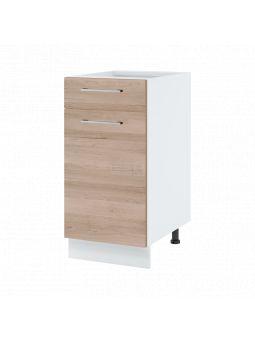 Meuble bas de cuisine - 1 porte + 1 tiroir, L 40 cm