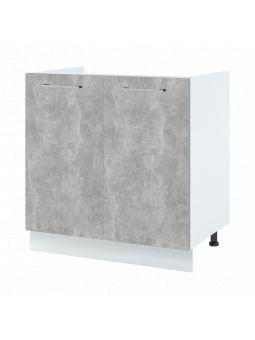 Meuble sous-évier - 2 portes, L 80 cm
