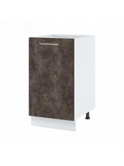 Meuble bas de cuisine - 1 porte, L 45 cm - bellissi beton ardoise