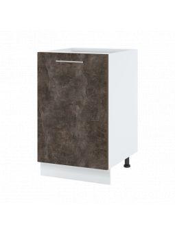 Meuble bas de cuisine - 1 porte, L 50 cm - bellissi beton ardoise