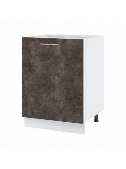 Meuble bas de cuisine - 1 porte, L 60 cm - bellissi beton ardoise