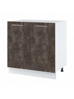 Meuble bas de cuisine - 2 portes, L 80 cm - bellissi beton ardoise