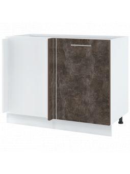 Meuble d'angle pour îlot de cuisine - 1 porte, L 105 cm - bellissi beton ardoise