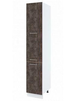 Colonne de cuisine - 3 portes, L 40 cm - bellissi beton ardoise