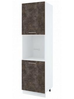 Colonne de cuisine pour four encastrable - 2 portes, L 60 cm _ bellisi beton ardoise