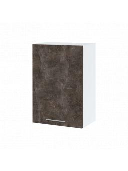 Meuble haut de cuisine - 1 porte, L 50 cm - bellissi beton ardoise