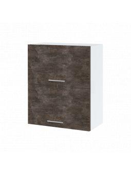 Meuble haut de cuisine - 2 portes relevables, L 60 cm - bellissi beton ardoise