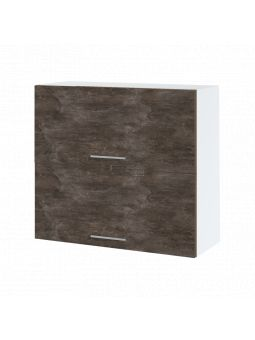 Meuble haut de cuisine - 2 portes relevables, L 80 cm - bellissi beton ardoise