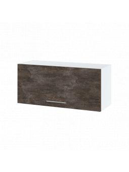Meuble haut SLIM de cuisine - 1 porte relevable, L 80 cm - bellissi beton ardoise