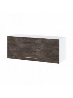 Meuble haut SLIM de cuisine - 1 porte relevable, L 90 cm - bellissi beton ardoise