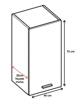 Dimension du meuble W4.