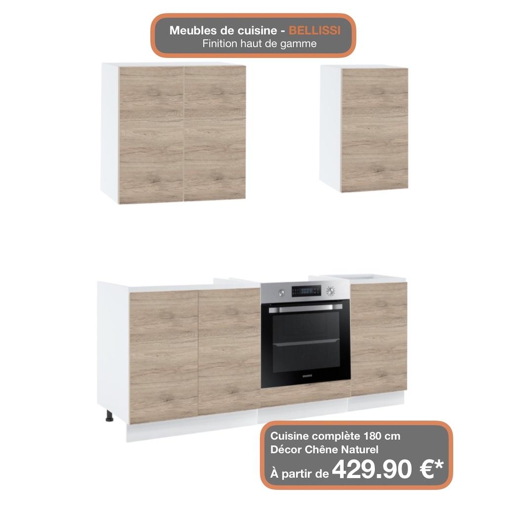 Meuble haut de cuisine - 10 portes, L 10 cm