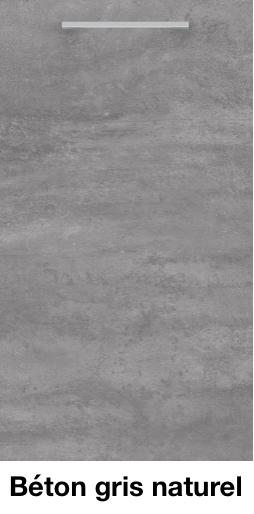 Façade meuble de cuisine Béton gris naturel.